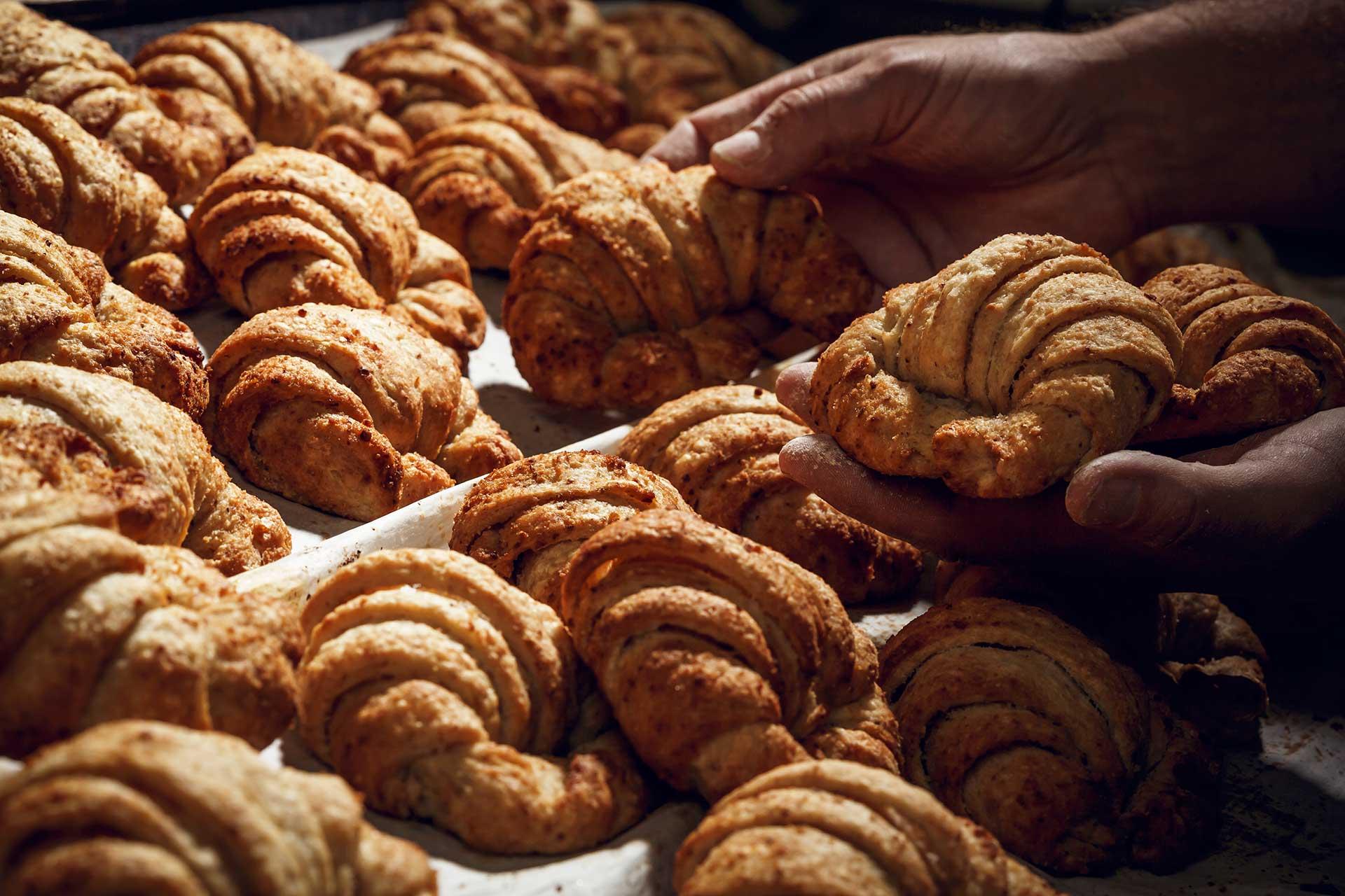Biobäckerei Nadrag Bio-Kamut-Nuss-Croissants